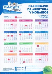 calendario de Apertura 2017-18